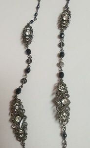 New York &co art deco rhinestone long necklace NEW